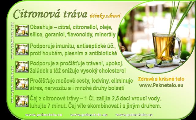 Citronová tráva (Voňatka citronová) a čaj z citronové trávy – jaké jsou účinky na zdraví?