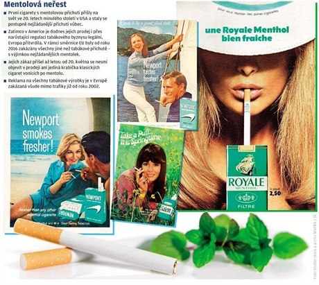 Mentol v elektronických cigaretách je až 1600x silnější a nebezpečnější, než v klasických cigaretách