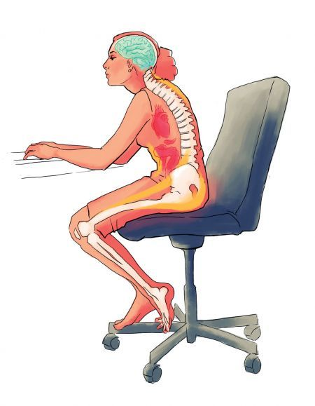Jak na správné sezení? Co myslíte, sedíte v práci správně?