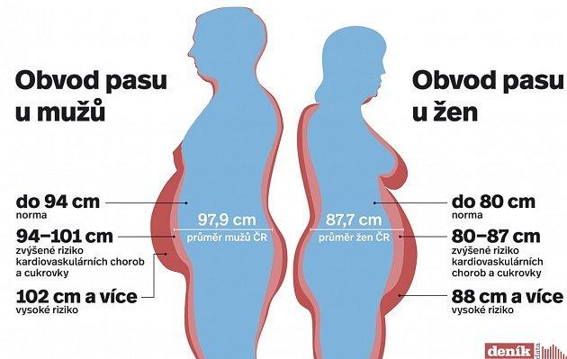 V Evropě jsou čeští muži nejtlustší
