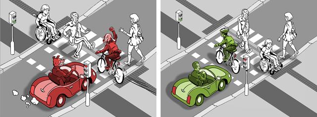 Po stávce svítá cyklistům: Užší silnice, pruh pro kola