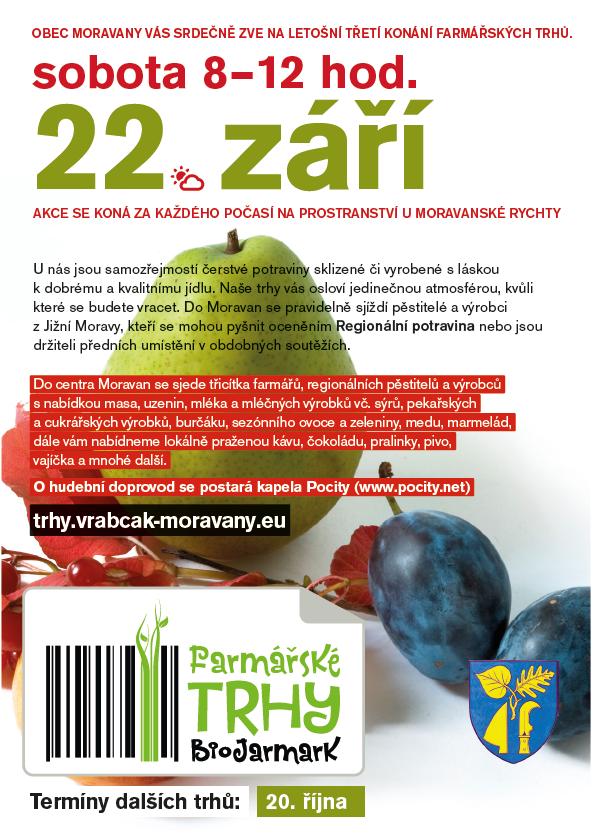 Farmářské trhy - změny kvůli svátkům a prázdninám