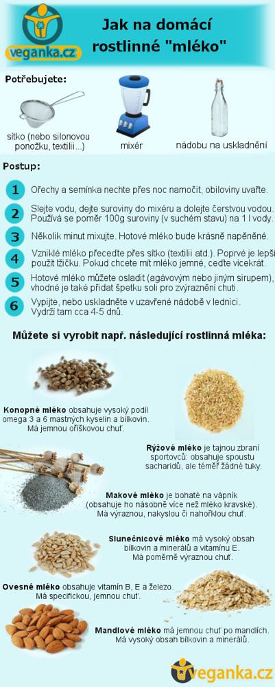 Zdravá rostlinná mléka: Recepty na jejich výrobu